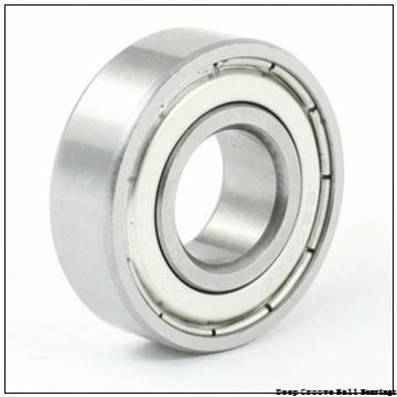 3.175 mm x 6.35 mm x 2.38 mm  skf D/W R144W.0937-2ZS Deep groove ball bearings